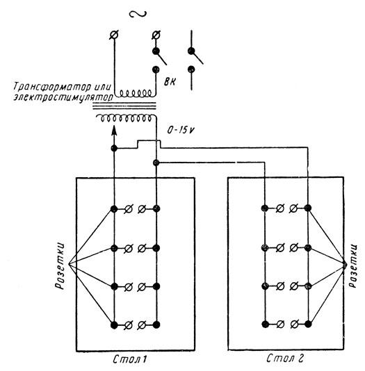 Схема подводки электропитания