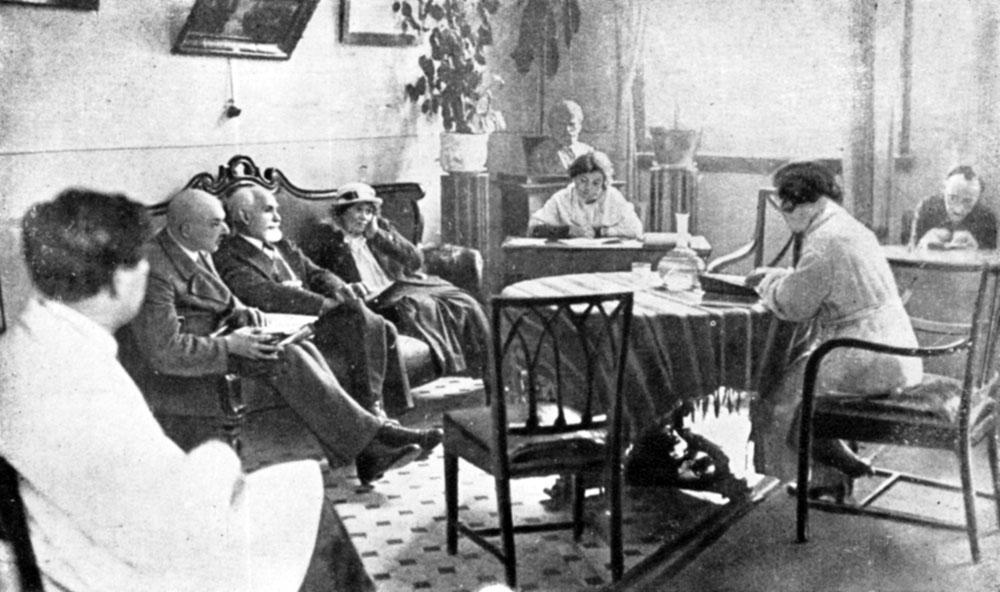 И. П. Павлов на заседании в
